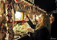 Looking to the stand with gingerbread on the traditional Christmas markets, which are held in the Czech Republic and Slovakia regularly during Advent.