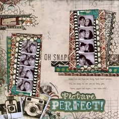 Mama Razzi2 is perfect for this photo strip layout by Lynn Shokoples. #BoBunny #Mama Razzi2 @LynnShokoples