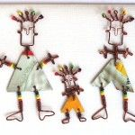 Upcyled tin Cards with various themes: Bike, Get Well,  2 Dancers, 3 Dancers or 4 Dancers