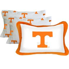 NCAA Tennessee Vols Pillowcase Set 3pc Bed Accessories - Pillow Shams