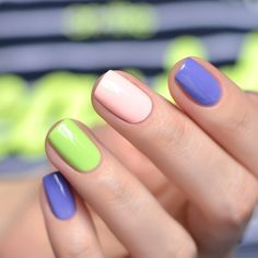 "China Glaze ""Be More Pacific"", ""What A Pansy"", ""Spring In My Step"" - 2 слоя и топ"