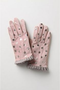 Adorable pink and silver polka dot gloves! It doesn't even get cold where I live, and I want these... ~~ Houston Foodlovers Book Club