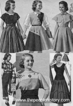 1950 Teenage Clothing | 1950s Childrens Fashion Part of Our Fifties Fashions Section