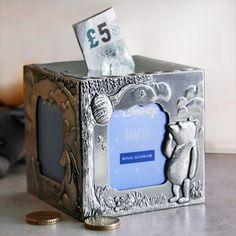 Royal Selangor Winnie the Pooh Cube Photo Frame Money Coin Box