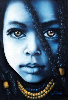 "Street art by Zina ""Rasta Baby"""