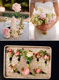 beautiful (and beautifully presented) bouquets from bash please.