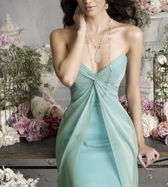 2013 Strapless V Neck Aqua Cheap Customer Made Design Bridesmaid Dress