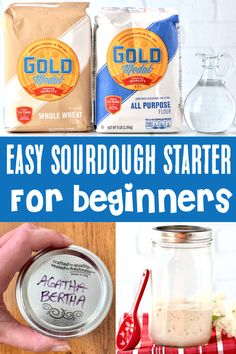 Easy Sourdough Starter Recipe: Bread for Beginners! This easy Sourdough Starter Recipe will have you baking gorgeous loaves of fresh, crusty sourdough bread in no time! Go grab the instructions, and start making yours today! Tasty Bread Recipe, Bread Recipes, Yummy Recipes, Yummy Food, Baking For Beginners, Bread Starter, Healthy Recipes On A Budget, Sourdough Bread, Winter Recipes