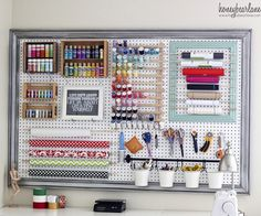 Pretty Pegboard Storage! | Decorating Your Small Space