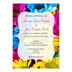 カラフルな花の招待状。#zazzle #招待状