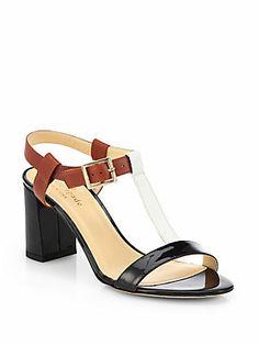 Kate Spade New York Aisha Leather T-Strap Sandals