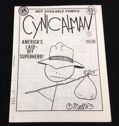 Cynicalman #9 Underground Comix Matt Feazell Mini-Comic Minicomix Newave 1983 #MattFeazell #Minicomics #NewaveComix