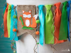 Fox Birthday Fox Birthday Banner Burlap Banner by HouseOfLaylayt