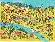 Josh Cochran's Unicorns and Zombies! | Ape on the Moon: Contemporary Illustration