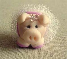 Ballerina pig cake topper