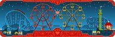 Google Doodles - Dia dos Namorados e 154º aniversário de George Ferris Valentines Day Doodles, Happy Valentines Day, Google Doodles, Orlando Activities, World's Columbian Exposition, Wheel Logo, Things To Do, Stuff To Do, National Days