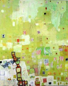 """Balance, (c) 2013 Barbara Gilhooly, 36"""" x 24"""", acrylic, mixed media on canvas, $1450."""