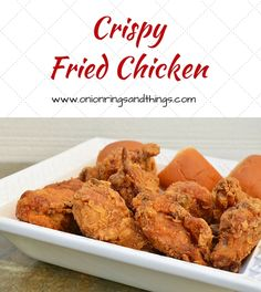 Discover the secret to delicious Crispy Fried Chicken that's super criuncy on the outside and super moist in the inside