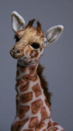 K Pawz OOAK Artist Miniature Realistic Giraffe
