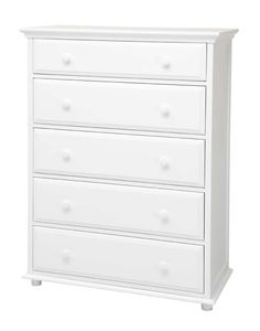 Big 5 W : 5 Drawer Dresser w/ Crown & Base : : White : - Dressers - Storage - Furniture - Shop Now Armoire Dresser, Built In Dresser, Long Dresser, 5 Drawer Dresser, Dresser Storage, Kids Bed Furniture, Furniture Ads, Affordable Furniture Stores, Cool Bunk Beds