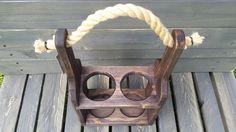 wooden wine bottle carrier