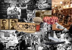 Capturing the experience of barber 'Schorem' in a collage Village Barber, Get A Tattoo, Barber Shop, At Least, Collage, Hair, Whoville Hair, Barbers, Collage Art
