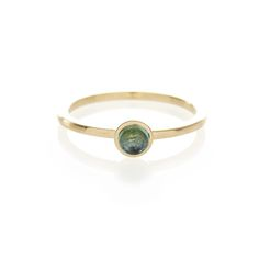 Dear Rae // Green Tourmaline 9ct yellow gold ring