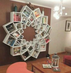 Geofloral bookcase