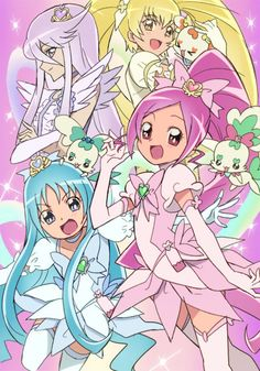 Pretty Cure Manga Anime, Manga Girl, Anime Girls, Cartoon Pics, Cartoon Drawings, Smile Pretty Cure, Joseph, Spice And Wolf, Glitter Force