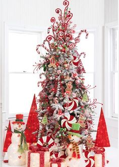 Candy themed christmas trees