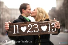 Photo Prop Sign - Save The Date - Wedding Date Sign -