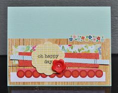 Ribbon, Glitter and Glue: card
