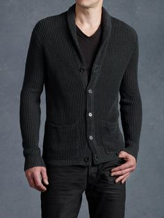 Shawl Collar Cardigan - John Varvatos Shawl Collar Cardigan 5bbc3a98e76c