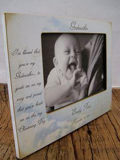 BRAND NEW 5x7 Personalized  Godmother / Godfather / Godparent Custom Frame. $48.00, via Etsy.