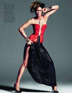 Raquel Zimmermann in Haute Couture for Vogue Paris, November 2011 Shot by Inez & Vinoodh Styled by Emmanuelle Alt