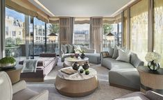 The Berkeley hotel in London introduces its new Pavilion Suites designed by renowned interior architect André Fu. London Hotels, Glass Pavilion, Two Bedroom Suites, Penthouse Suite, Interior Architecture, Interior Design, Hotel Suites, Living Room Inspiration