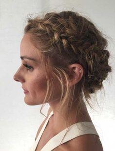 olivia palermo updo braided hair style