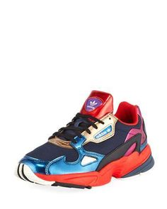 Adidas Falcon Women s Colorblock Metallic Sneakers Metallic Sneakers 07c2f15d7