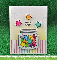 Lawn Fawn Intro: How You Bean? Star Add-On - Lawn Fawn Homemade Birthday Cards, Happy Birthday Cards, Homemade Cards, Cute Cards, Diy Cards, Tarjetas Diy, Birthday Card Drawing, Cute Doodle Art, Fathers Day Crafts