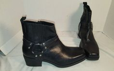 NEW WOMEN'S VAGABOND ARIANA BLACK LEATHER HARNESS ANKLE BOOTS US 9 EUR 39 #Vagabond #HARNESS