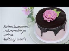 Kakkusankari: Kakun kuorruttaminen voikreemillä ja valuva suklaaganache