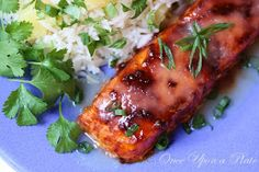 Once Upon a Plate The Recipes: Slow Roasted Chipolte Salmon with Pineapple Rice