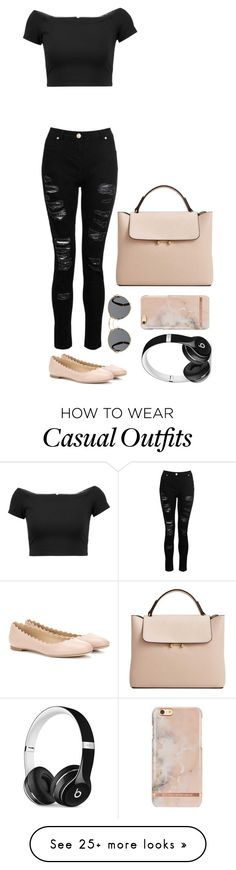 """""""Casual"""" by annacombs4 on Polyvore featuring Dorothy Perkins, Alice + Olivia, Chloé, Prada, MANGO and Beats by Dr. Dre"""