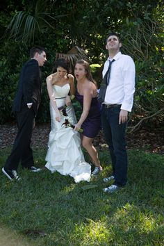 One of my favorite shots of our wedding. Green Converse, Silly Pictures, Our Wedding, Shots, My Favorite Things, Friends, Wedding Dresses, Fun, Amigos
