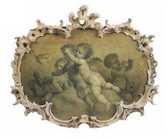 Circle of François Boucher (Paris 1703-1770) Putti disporting: en grisaille oil on canvas... From...http://a-l-ancien-regime.tumblr.com/post/55106306254/circle-of-francois-boucher-paris-1703-1770