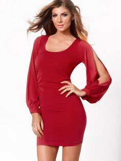 ea690a2a6bcb I love this Slit Sleeve Dress PLUS from Frederick s of Hollywood! Classy  And Fabulous