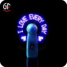 FREE DESIGN Best Advertisement Promotional Gift Mini Flashing LED Message Fan