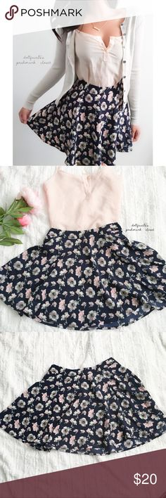 "Lush Pretty Floral Skater Skirt ✦   ✦{I am not a professional photographer, actual color of item may vary ➾slightly from pics}  ❥waist:12.5"" ❥hips:27"" ❥length:15.5""  ➳material/care:polyester/dry clean ➳fit:in my opinion true ➳condition:gently used  ✦20% off bundles of 3/more items ✦No Trades  ✦NO HOLDS ✦No lowball offers/sales are final  ✦‼️BE A RESPONSIBLE BUYER PLS ASK QUESTIONS/USE MEASUREMENTS TO MAKE SURE THIS WILL WORK FOR {YOU} BEFORE PURCHASING ‼️ Lush Skirts Mini"