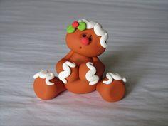 Polymer Clay Gingerbread Man por ClayPeeps en Etsy