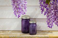Ball purple vintage style jars #Mason #Jar #Ball #heritage #bocal #bocaux #americanmade #americanproduct #lecomptoiramericain #pourpre #violet #milka #Glycine #madeinUSA